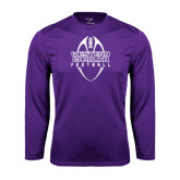 Performance Purple Longsleeve Shirt-Tall Football Design