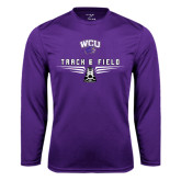 Syntrel Performance Purple Longsleeve Shirt-Track and Field Shoe Design