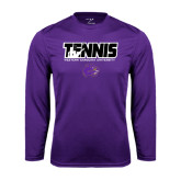 Syntrel Performance Purple Longsleeve Shirt-Tennis Player Design