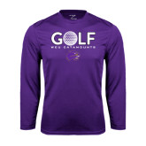 Performance Purple Longsleeve Shirt-Golf Ball Design