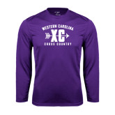 Performance Purple Longsleeve Shirt-Cross Country Design