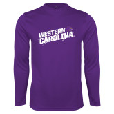 Performance Purple Longsleeve Shirt-Western Carolina Slashes