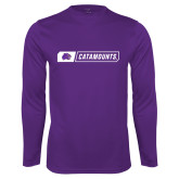 Performance Purple Longsleeve Shirt-Catamounts in Box