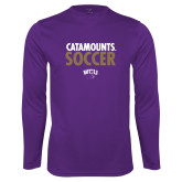 Performance Purple Longsleeve Shirt-Soccer Stacked