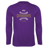 Performance Purple Longsleeve Shirt-Softball Seams Design