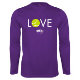 Performance Purple Longsleeve Shirt-Love Tennis