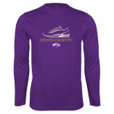 Syntrel Performance Purple Longsleeve Shirt-Cross Country Shoe Design
