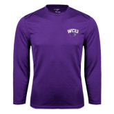 Performance Purple Longsleeve Shirt-WCU w/Head