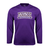 Performance Purple Longsleeve Shirt-Western Carolina Catamounts
