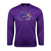Performance Purple Longsleeve Shirt-Catamount Head