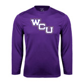 Performance Purple Longsleeve Shirt-WCU