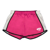 Ladies Fuchsia/White Team Short-WCU w/Head