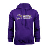 Purple Fleece Hood-Basketball