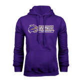 Purple Fleece Hood-Western Carolina Catamounts Side Logo