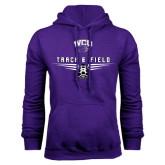 Purple Fleece Hood-Track and Field Shoe Design