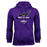 Purple Fleece Hood-Track and Field Side Shoe Design