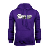 Purple Fleece Hood-Softball Script Design