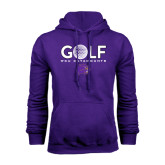 Purple Fleece Hood-Golf Ball Design