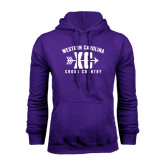 Purple Fleece Hood-Cross Country Design