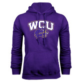 Purple Fleece Hood-WCU w/Head