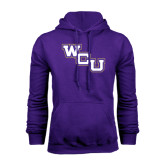 Purple Fleece Hood-WCU