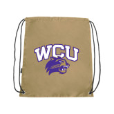 Nylon Vegas Gold Drawstring Backpack-WCU w/Head