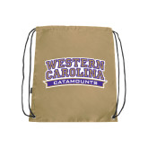 Nylon Vegas Gold Drawstring Backpack-Western Carolina Catamounts