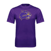 Performance Purple Tee-Catamount Head