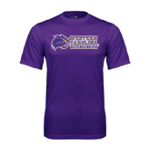 Performance Purple Tee-Track and Field