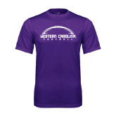 Performance Purple Tee-Arched Football Design