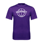 Performance Purple Tee-Basketball Ball Design