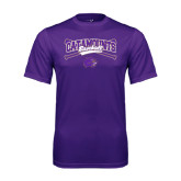 Performance Purple Tee-Baseball Crossed Bats Design