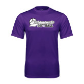 Performance Purple Tee-Softball Script Design