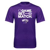 Syntrel Performance Purple Tee-Game Set Match Tennis Design