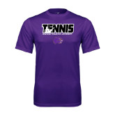 Syntrel Performance Purple Tee-Tennis Player Design