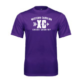 Performance Purple Tee-Cross Country Design
