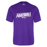 Performance Purple Tee-Football Fancy Lines