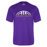 Performance Purple Tee-Basketball Half Ball
