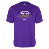 Syntrel Performance Purple Tee-Soccer Half Ball Design