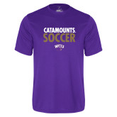 Performance Purple Tee-Soccer Stacked