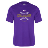 Performance Purple Tee-Softball Seams Design