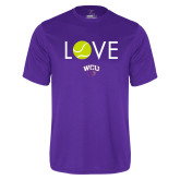 Performance Purple Tee-Love Tennis