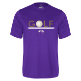 Performance Purple Tee-Golf Lines Design