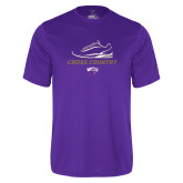 Performance Purple Tee-Cross Country Shoe Design
