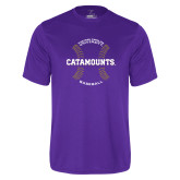 Performance Purple Tee-Baseball Seams Design