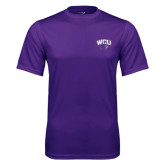 Performance Purple Tee-WCU w/Head