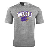 Performance Grey Heather Contender Tee-WCU w/Head