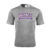 Performance Grey Heather Contender Tee-Western Carolina Catamounts