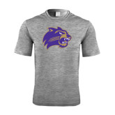 Performance Grey Heather Contender Tee-Catamount Head