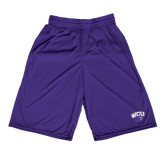 Midcourt Performance Purple 9 Inch Game Short-WCU w/Head